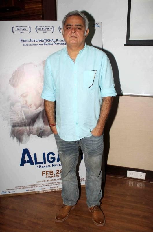Promotion of film Aligarh at Hashtag Media Festival at Mithibai College in Mumbai