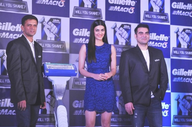 Rahul, Kriti & Arbaaz Launch of New Gillette Campaign