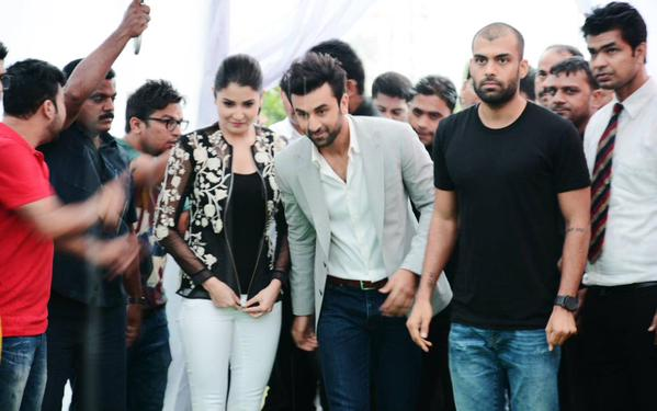 Ranbir &  Anushka Promoting Bombay Velvet at SGT University in Gurgaon