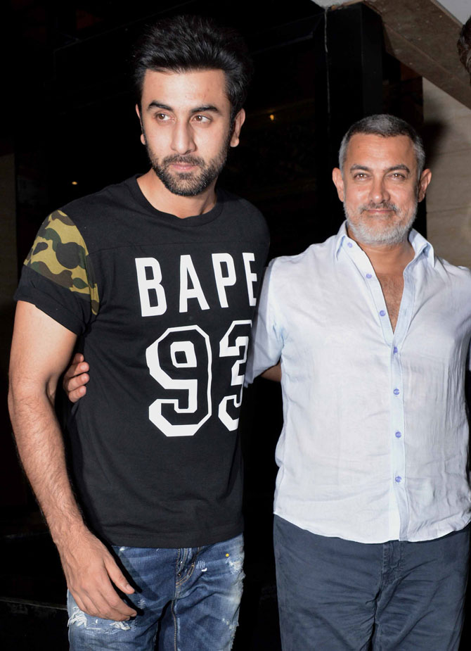 Ranbir & Karan Snapped At Aamir Khans House