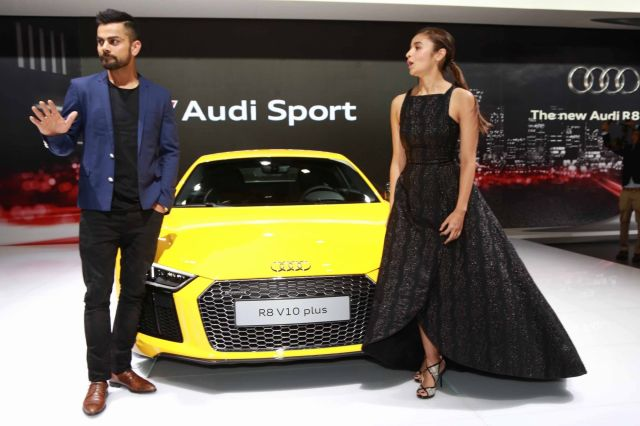 Ranbir, Katrina, Alia & Virat at The Auto Expo 2016 in New Delhi