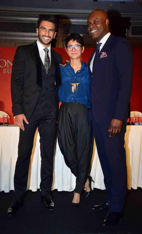 Ranveer Singh & Kiran Rao at The Mou Signing Ceremony