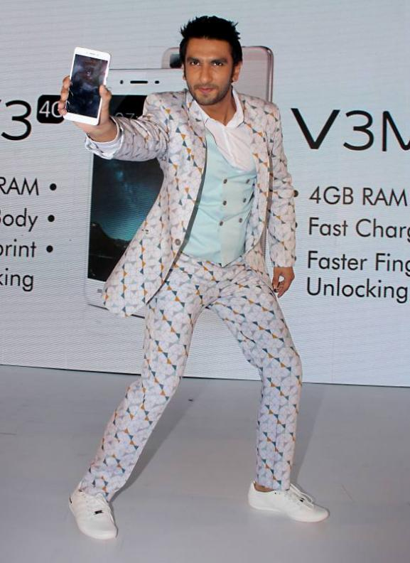 Ranveer Singh Launch of Vivo Smart Phones Vivo V3 & V3Max in Mumbai