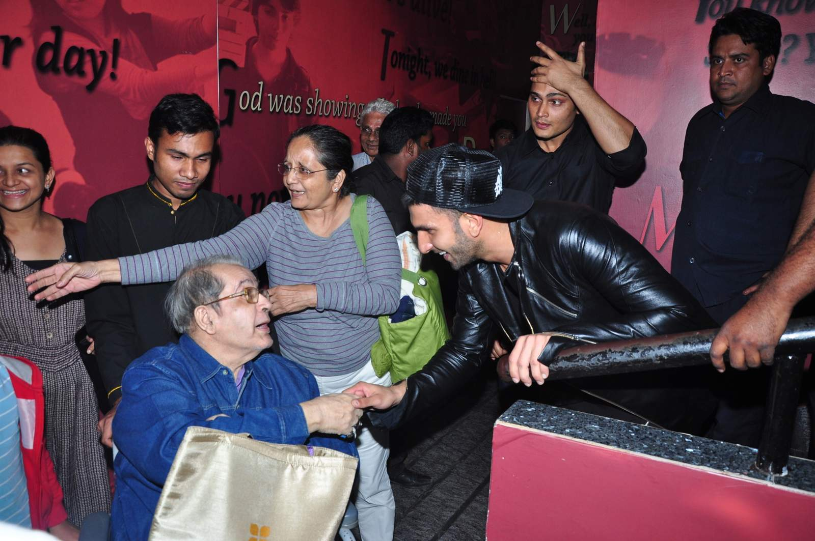 Ranveer Singh Promote Bajirao Mastani Movie at Chandan Cinema