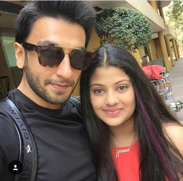 Ranveer Singh selfie with Asha Bhosles grand daughter Zanai