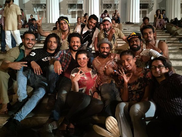 Riteish Deshmukh and Bosco Martis On The Sets of Banjo Movie
