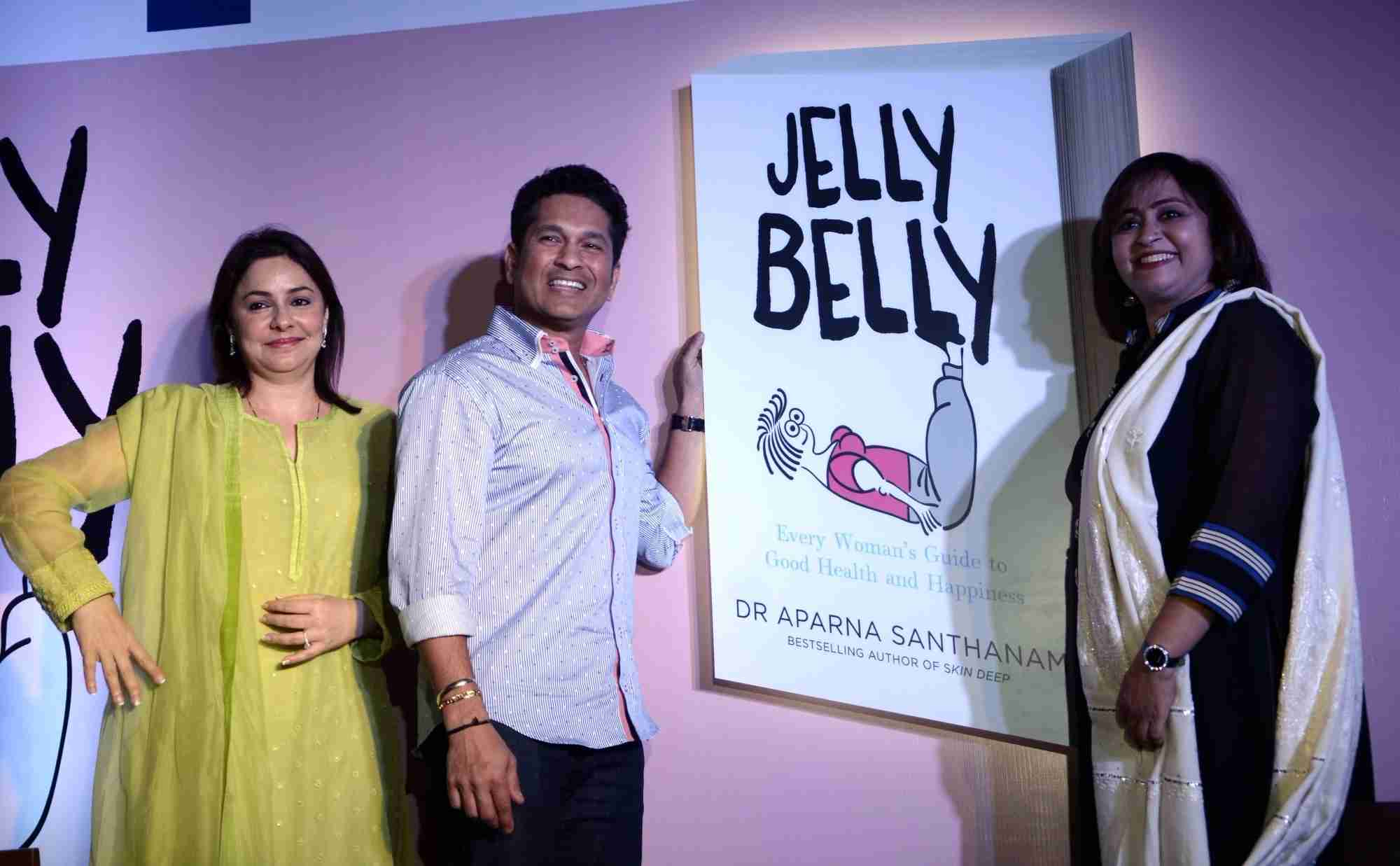 Sachin and Anjali Tendulkar Launch Apsara Santhanams Book Jelly Belly