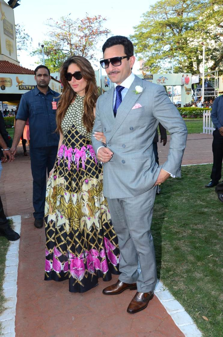 Saif & Kareena at The Indian Derby Race at Royal Western India Turf Club