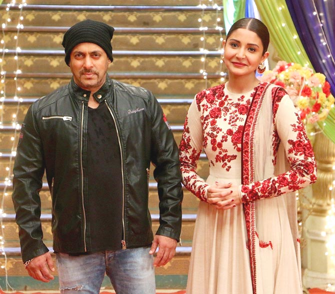Salman Khan and Anushka Sharma Promotion of film Sultan on the sets of colors TV serial Udaan