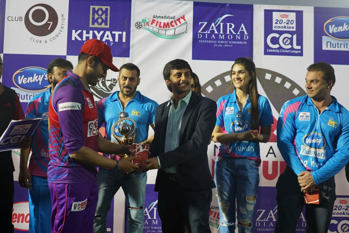 Salman khan & Bollywood Actors at Celebrity Cricket League 2016