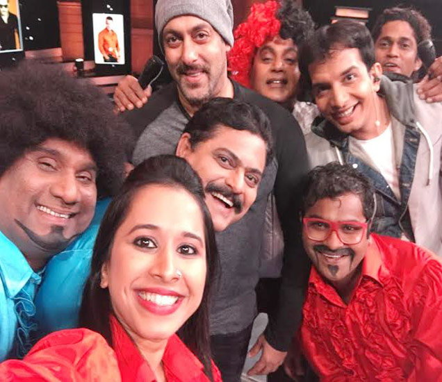 Salman Khan Promot Sultan Movie on the sets of Marathi Show Chala Hawa Yeu Dya