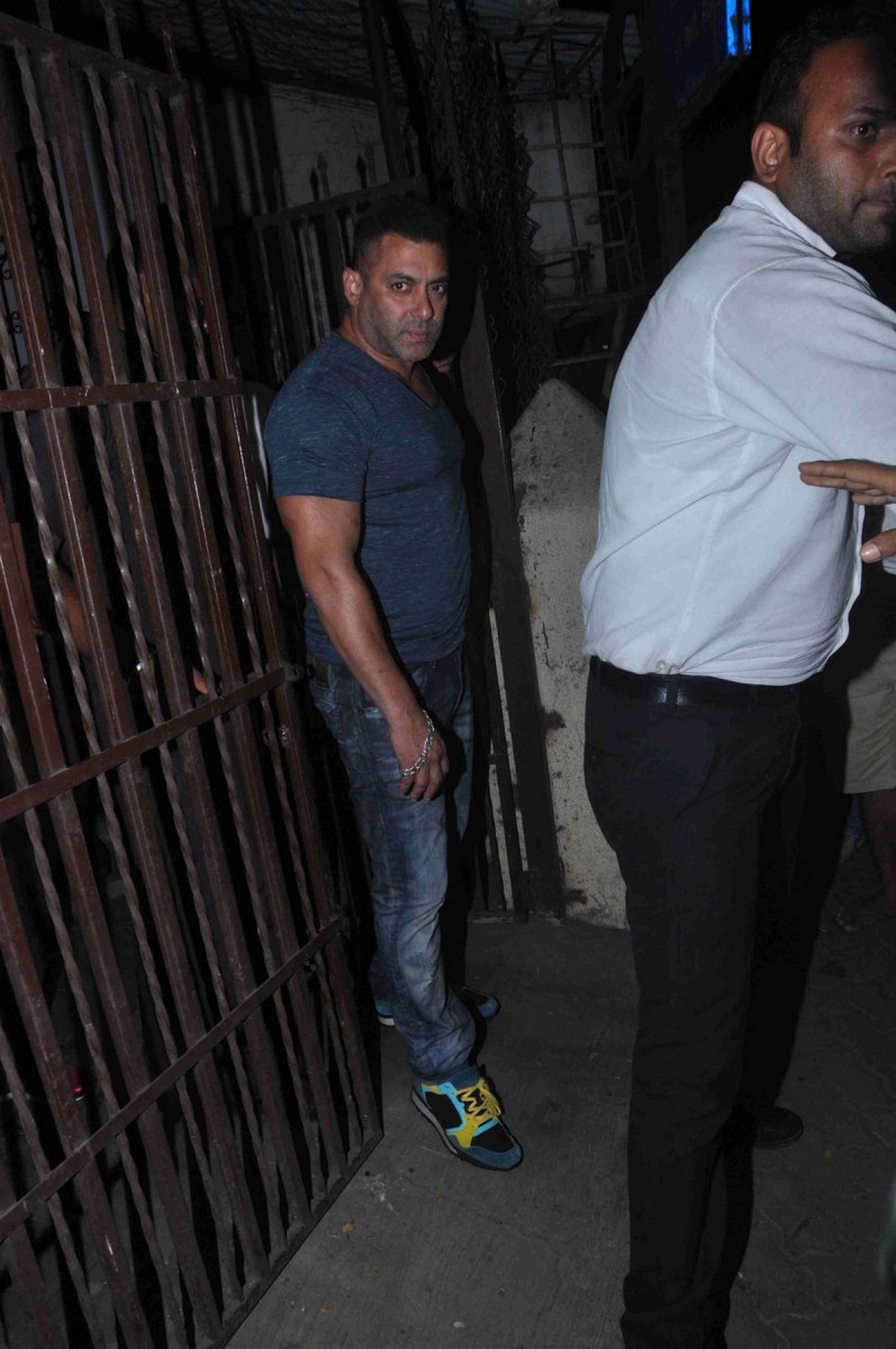 Salman Khan snapped post dubbing at a studio in Bandra