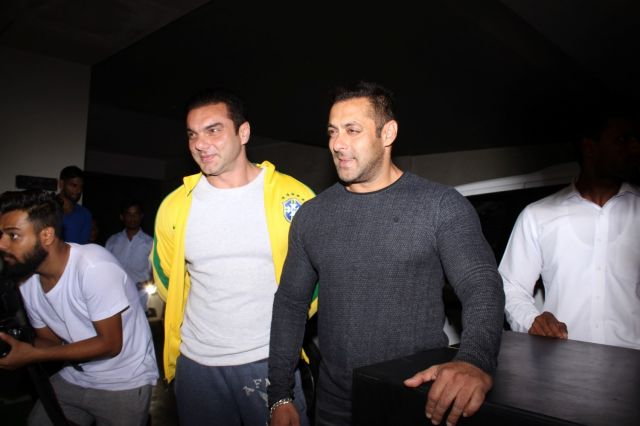 Salman Khan & Sohail Khan special screening of film The Jungle Book in Mumbai