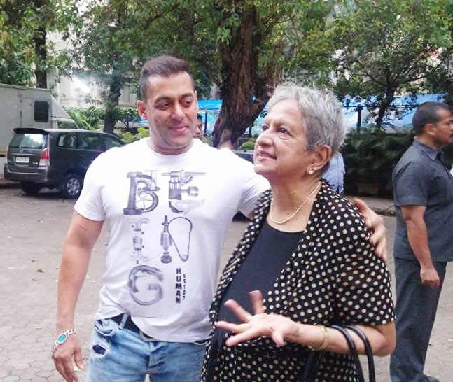 Salman khan Spotted with Old Women