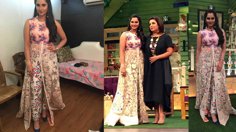 Sania Mirza and Farah Khan at The Kapil Sharma Show