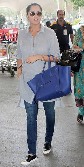 Sania Mirza & Shakti Kapoor Spotted at Airport