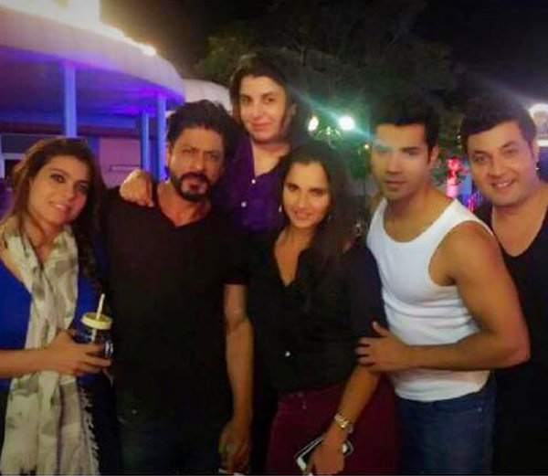 Saniya Mirza On The Sets Of Dilwale Movie