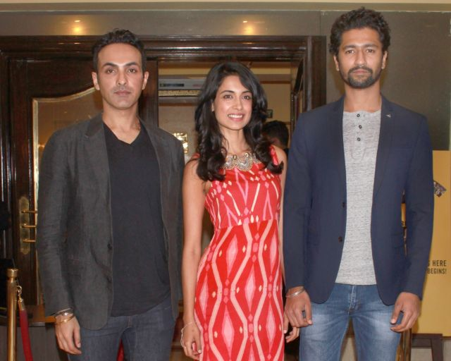 Sarah Jane Dias & Vicky Kaushal Promoted Zubaan Movie in New Delhi