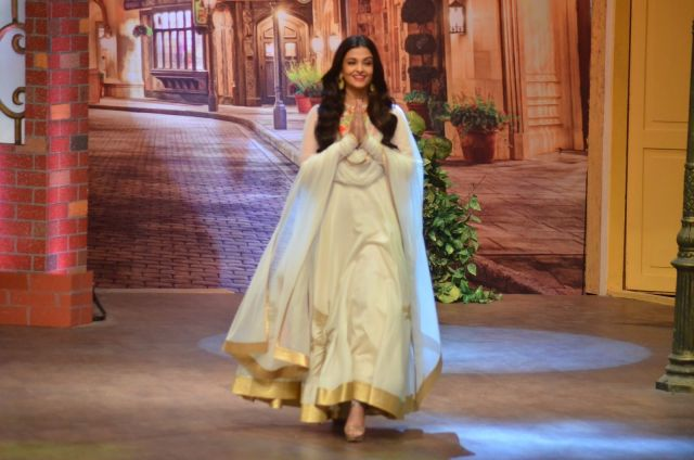 Sarbjit: Aishwarya Rai on the sets of The Kapil Sharma Show