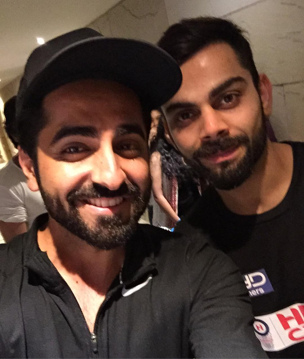 Selfie Time! - Ayushman Khurana with Virat Kohli, Dwayne Johnson with Priyanka Chopra and Raj Kundra
