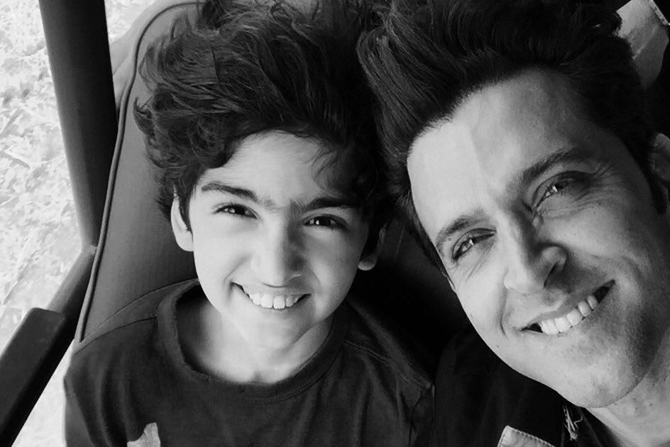 Hrithik Roshan with Son