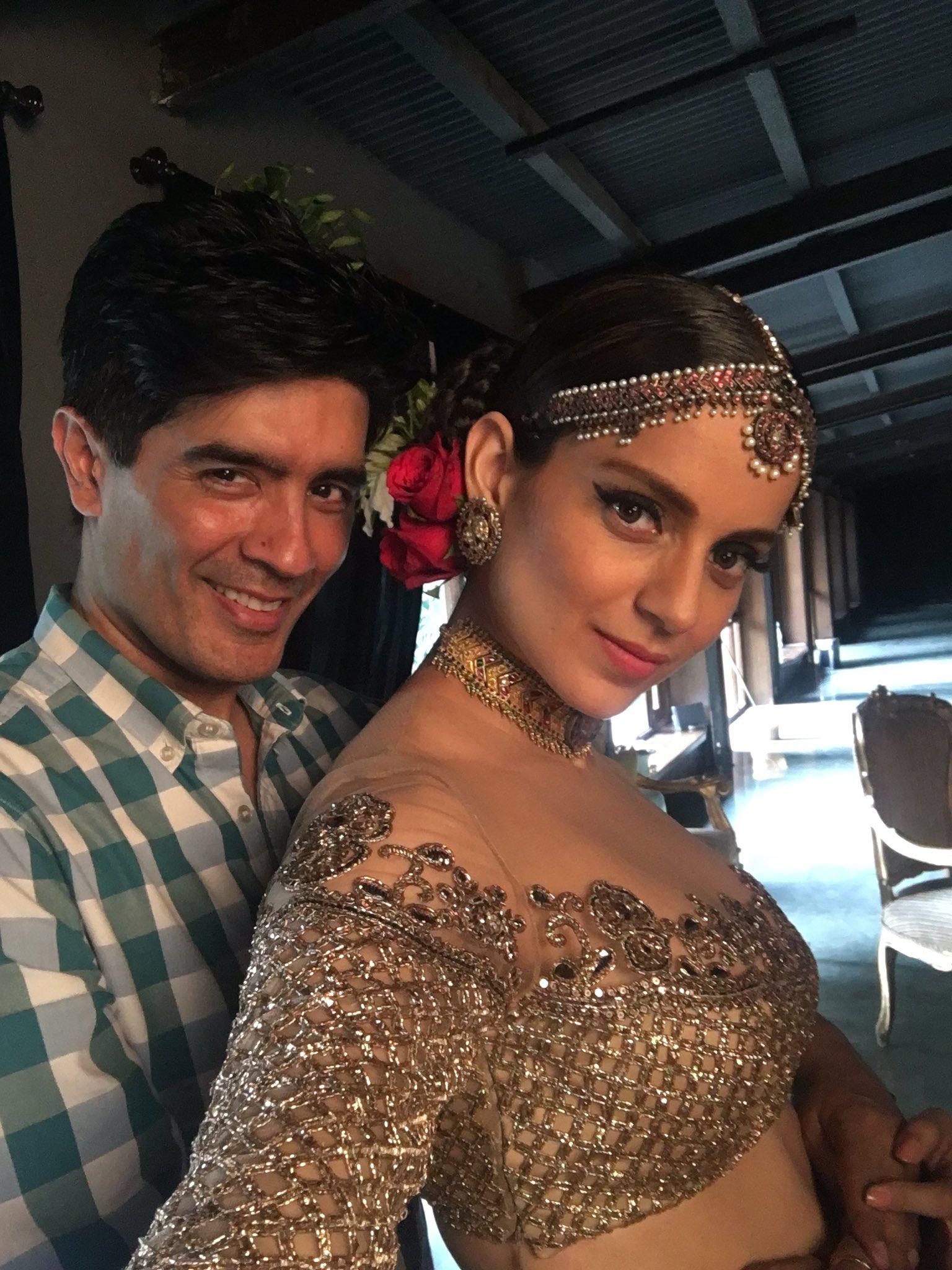 Kangna Ranaut with Manish Malhotra