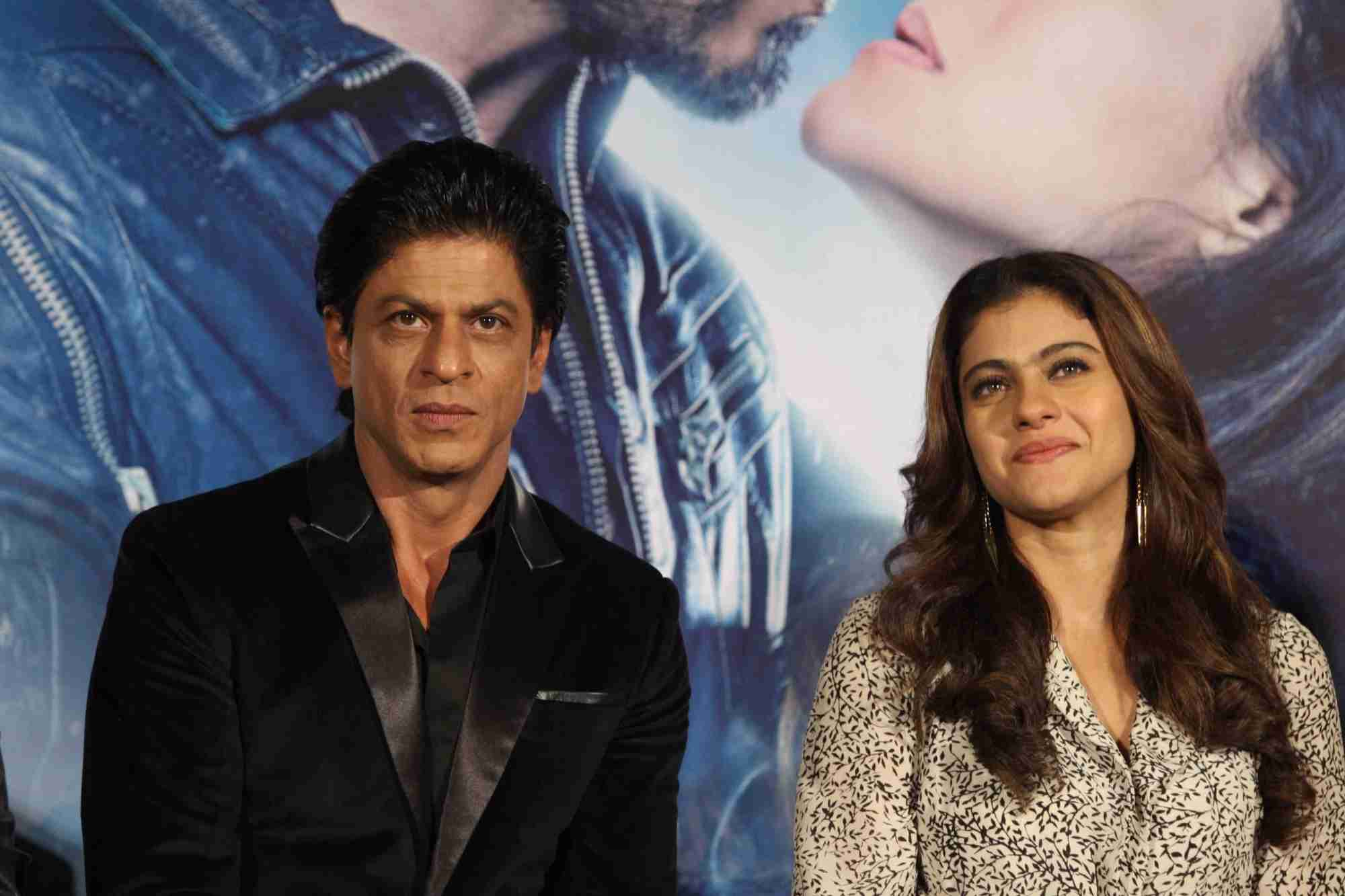 Shah Rukh Khan and Kajol at Song Launch of Film Dilwale in Mumbai-103