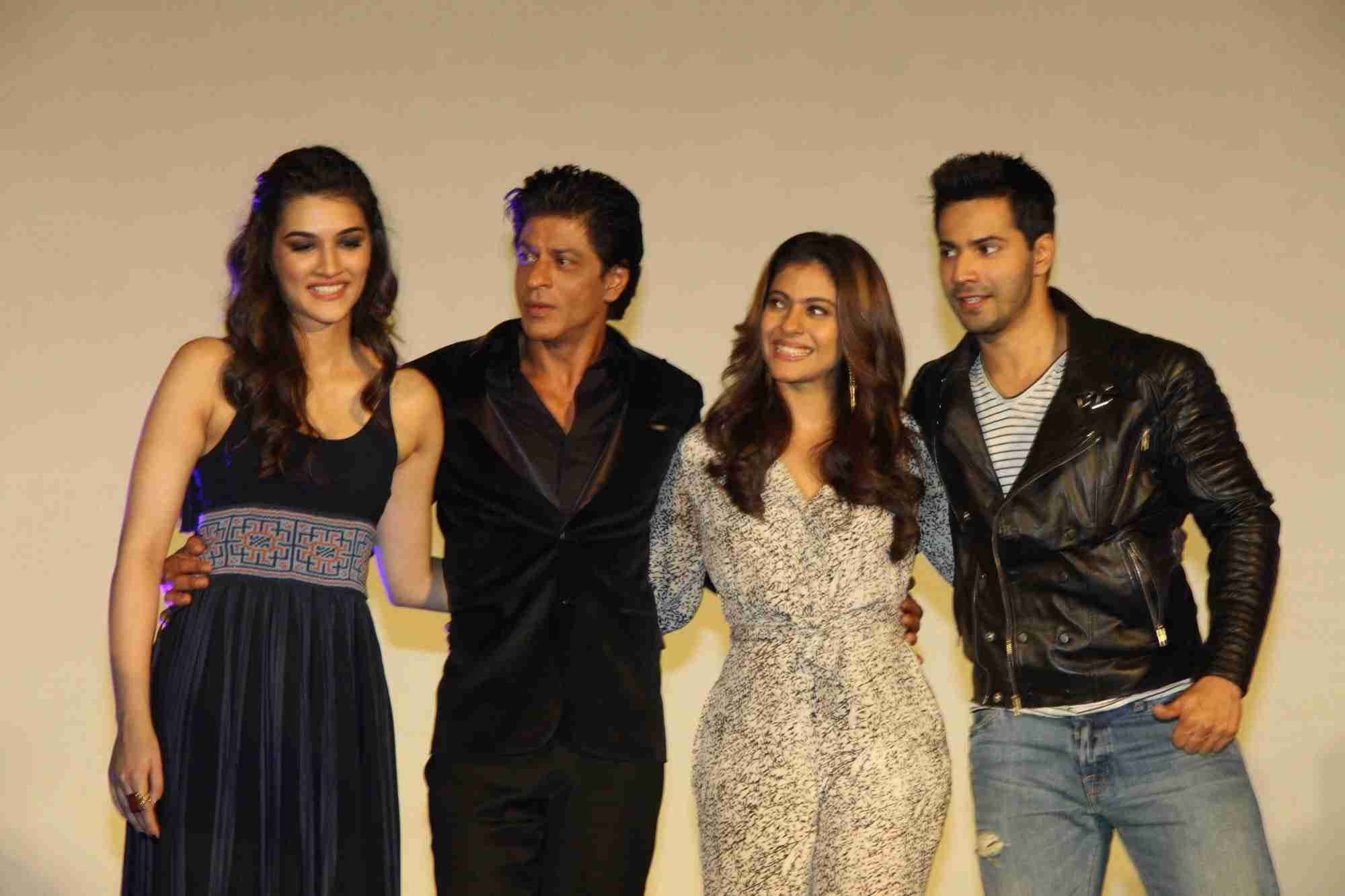 Shah Rukh Khan and Kajol at Song Launch of Film Dilwale in Mumbai-104