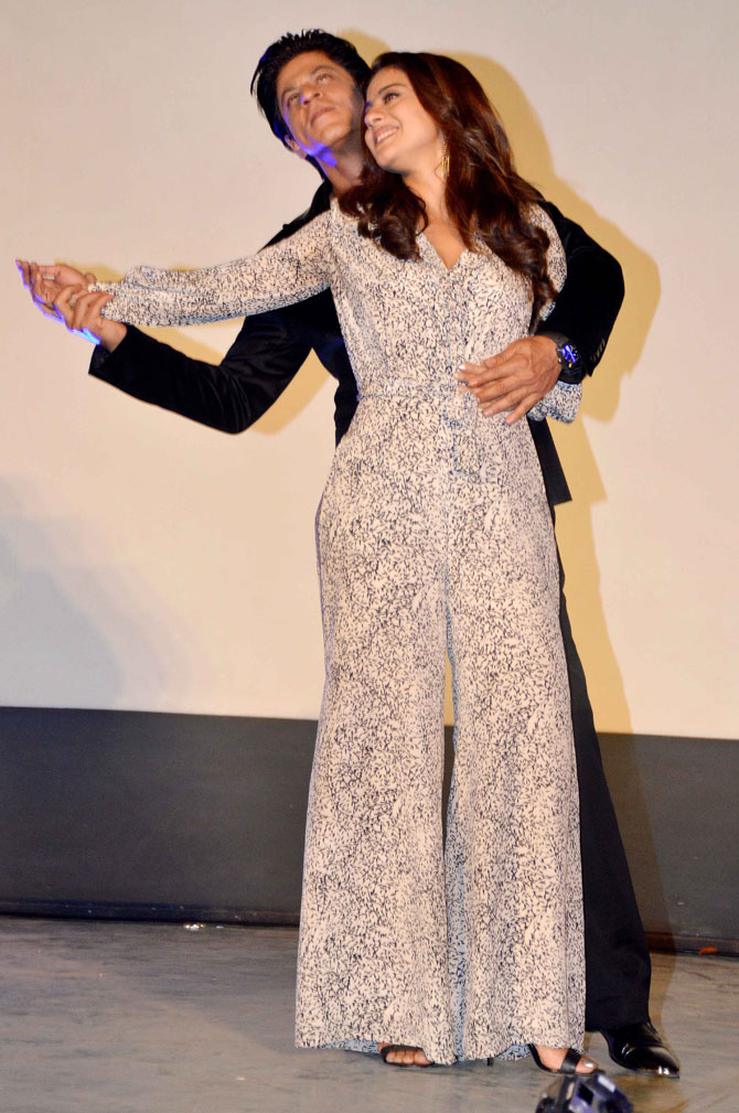 Shah Rukh Khan and Kajol at Song Launch of Film Dilwale in Mumbai-21