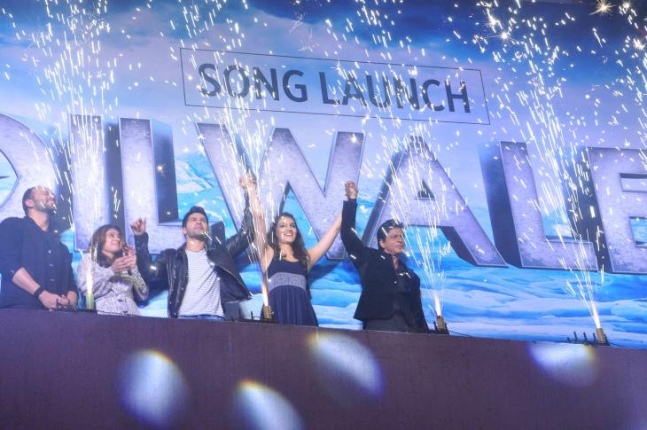 Shah Rukh Khan and Kajol at Song Launch of Film Dilwale in Mumbai-23