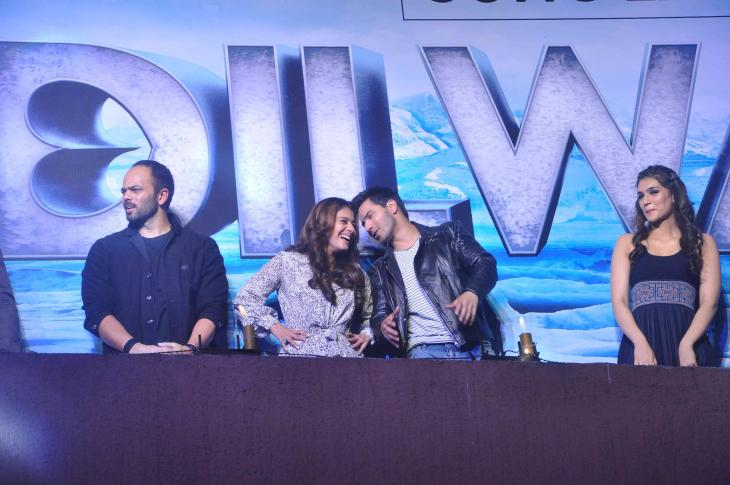 Shah Rukh Khan and Kajol at Song Launch of Film Dilwale in Mumbai-24