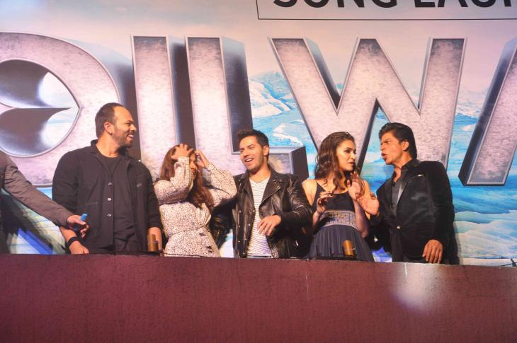 Shah Rukh Khan and Kajol at Song Launch of Film Dilwale in Mumbai-27