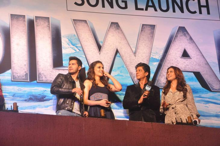 Shah Rukh Khan and Kajol at Song Launch of Film Dilwale in Mumbai-28