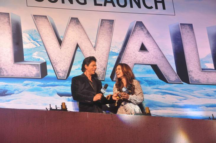 Shah Rukh Khan and Kajol at Song Launch of Film Dilwale in Mumbai-31
