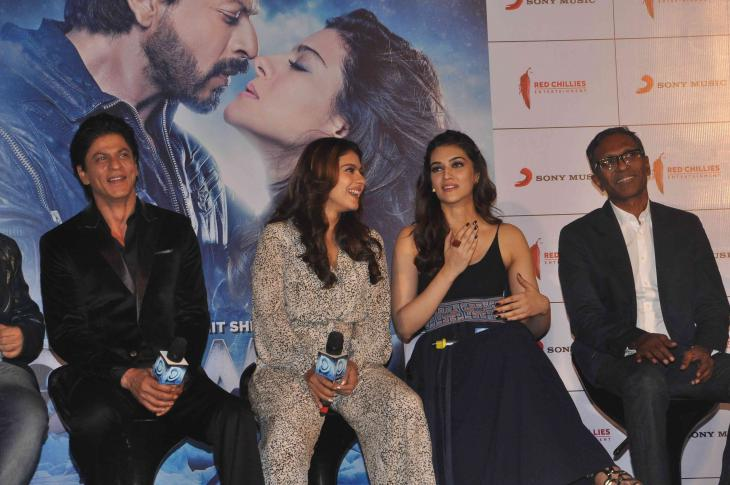 Shah Rukh Khan and Kajol at Song Launch of Film Dilwale in Mumbai-33