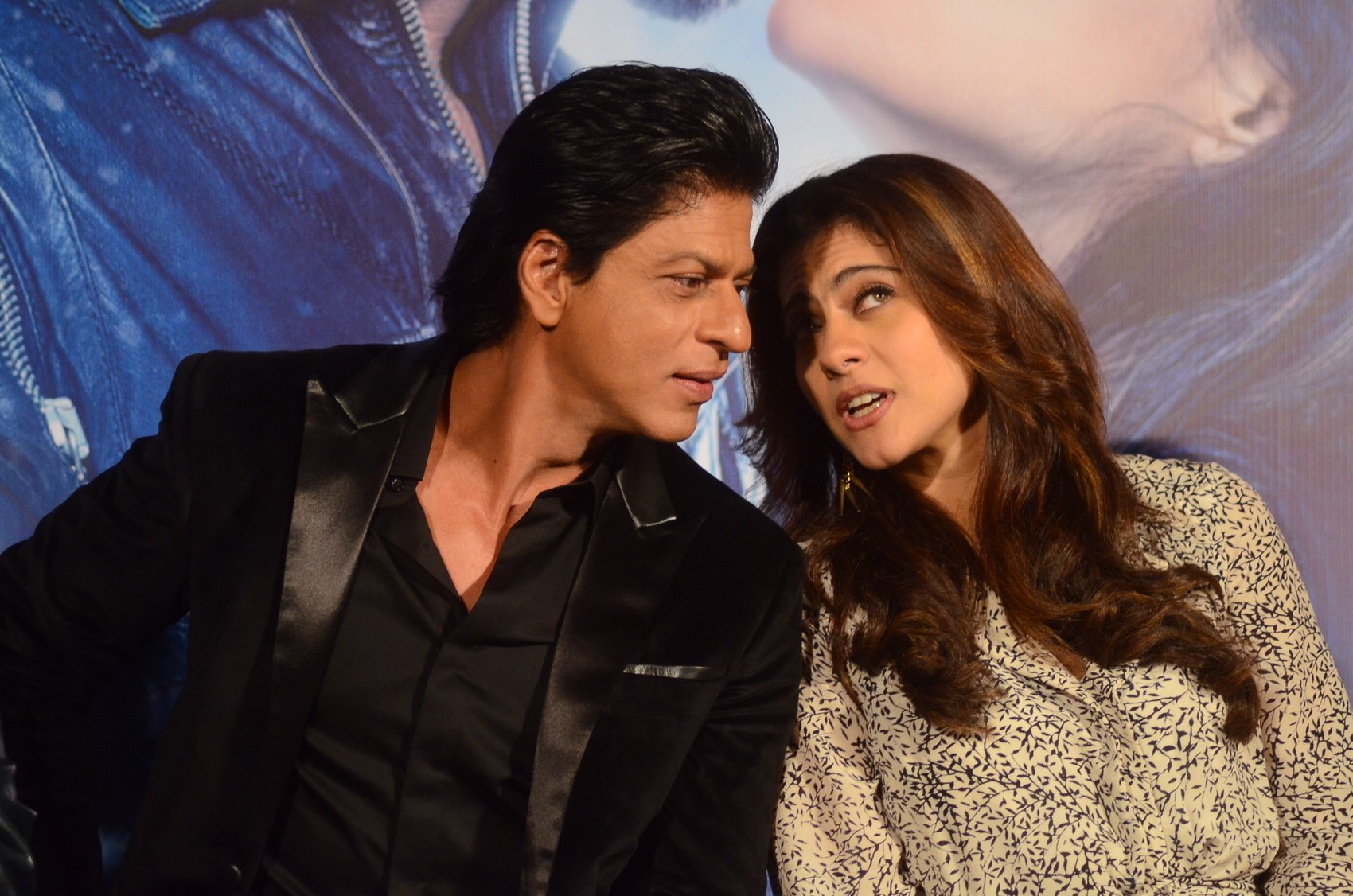 Shah Rukh Khan and Kajol at Song Launch of Film Dilwale in Mumbai-60