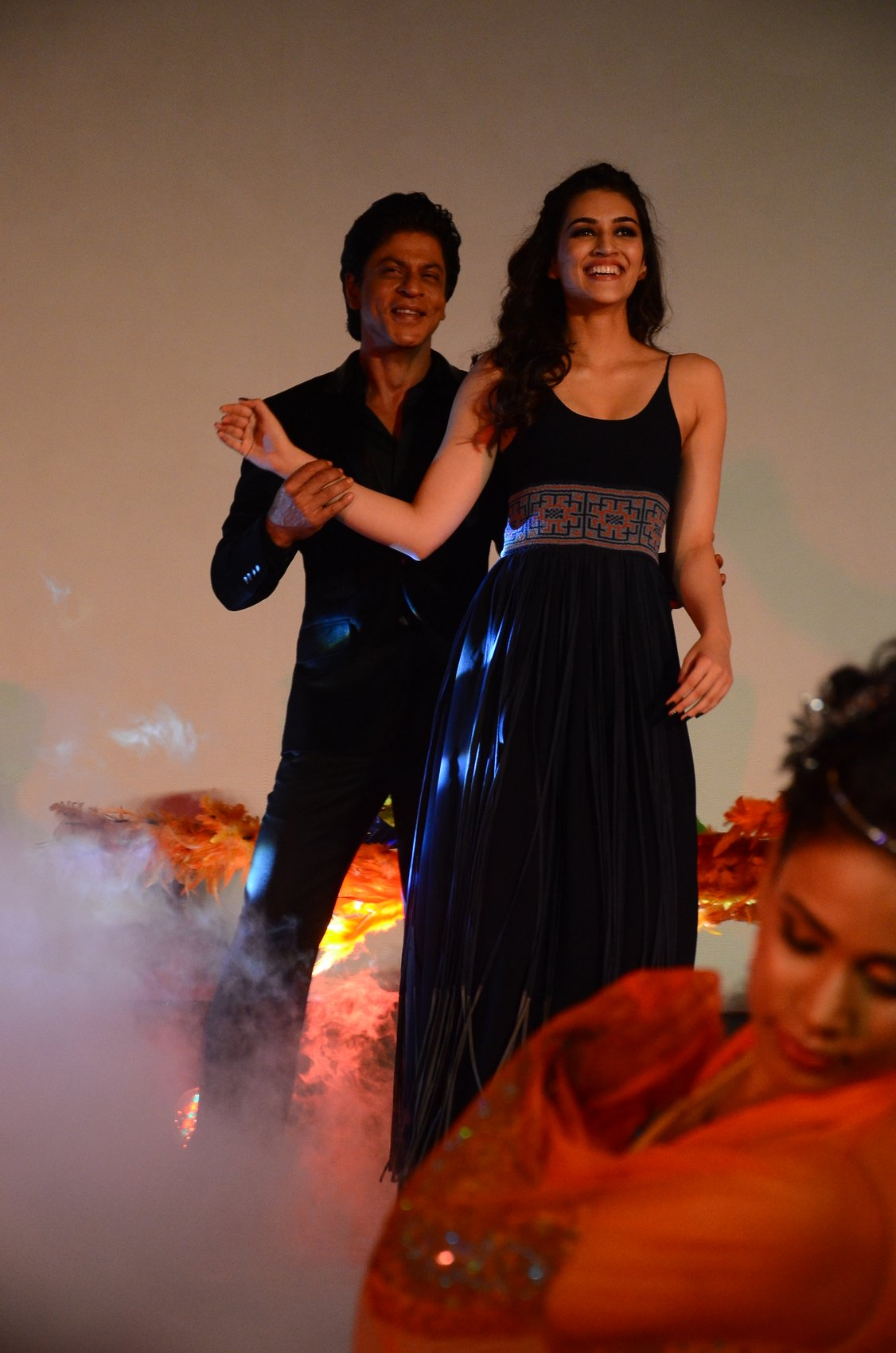 Shah Rukh Khan and Kajol at Song Launch of Film Dilwale in Mumbai-66