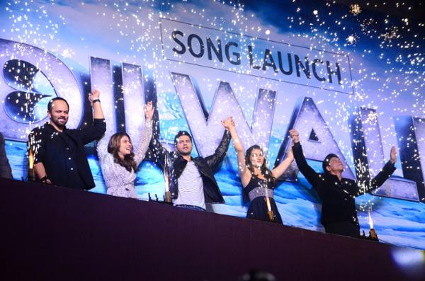 Shah Rukh Khan and Kajol at Song Launch of Film Dilwale in Mumbai-73