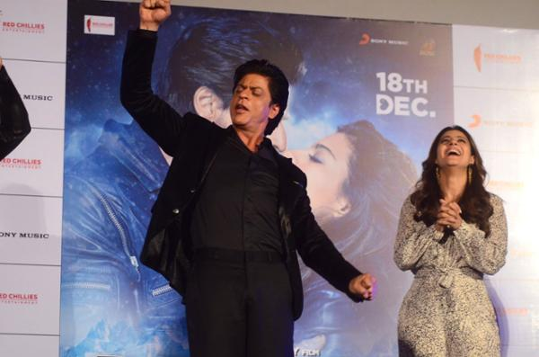 Shah Rukh Khan and Kajol at Song Launch of Film Dilwale in Mumbai-78