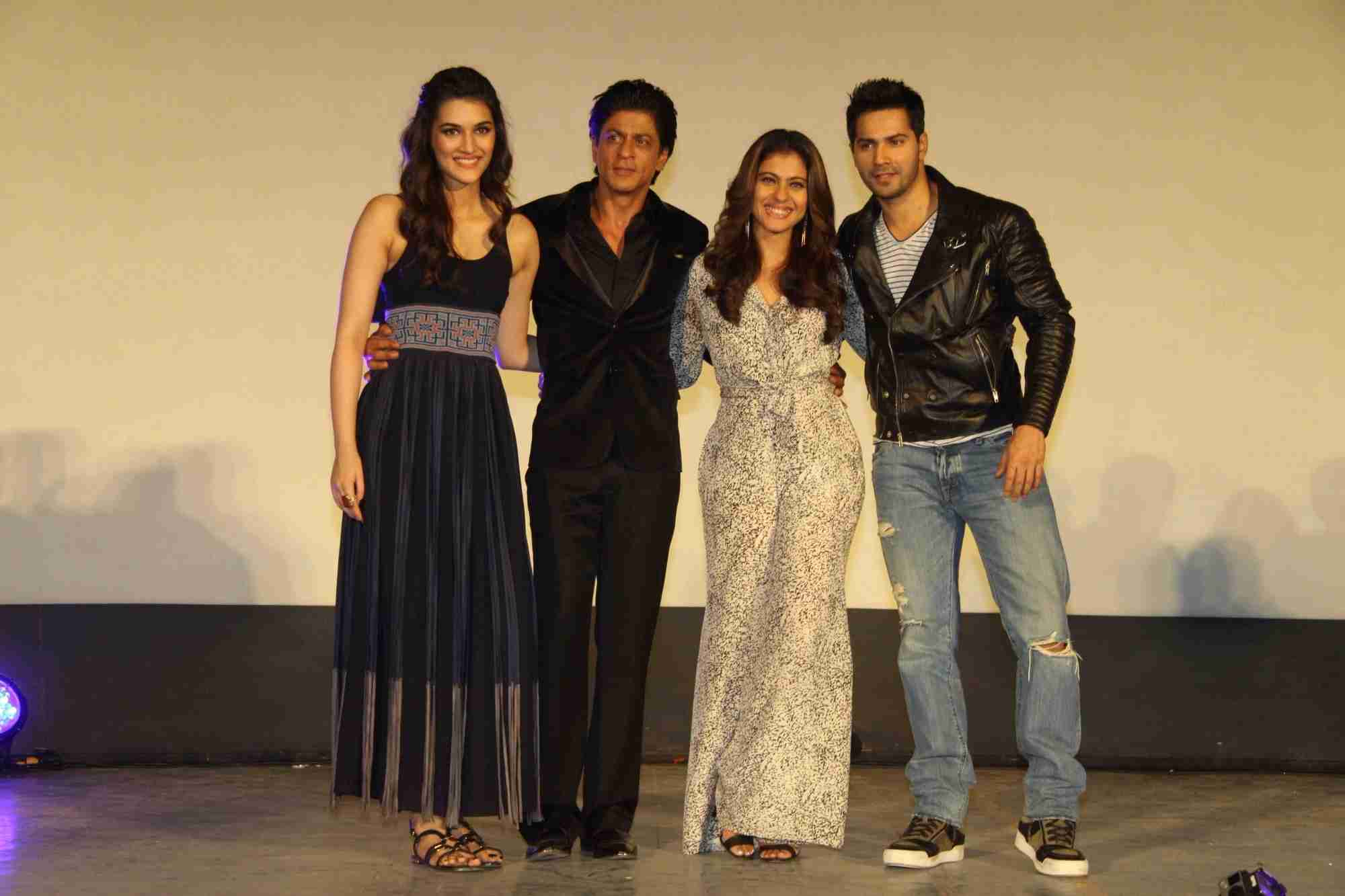 Shah Rukh Khan and Kajol at Song Launch of Film Dilwale in Mumbai-97