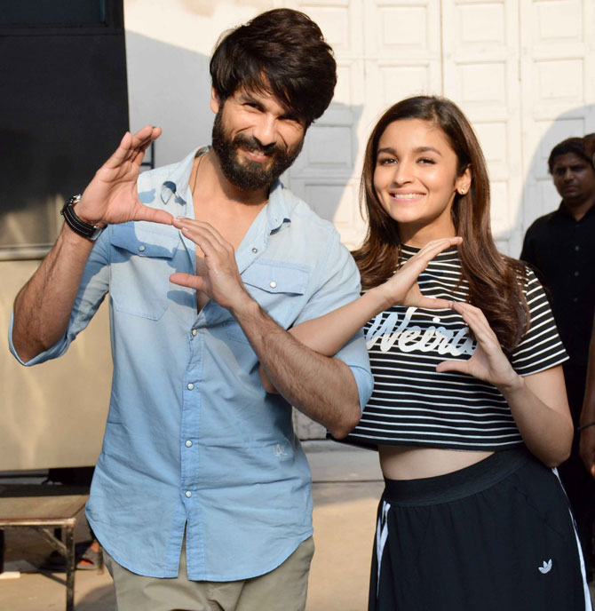 Shahid Kapoor & Aalia Bhatt Media Interactions At Mehboob Studio in Mumbai