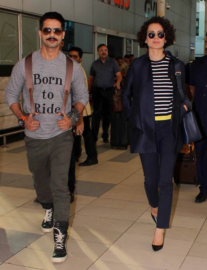 Shahid-Mira, Kangna & Other Celebs Spotted At Mumbai Airport