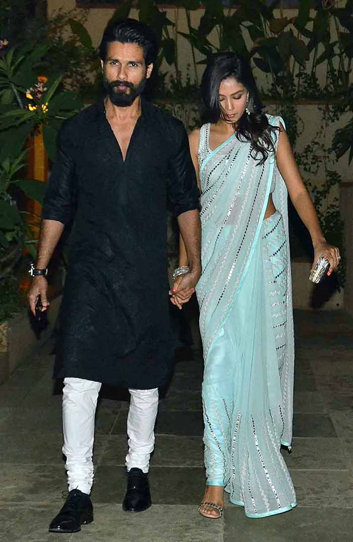 Shahid & Mira Kapoor Celebrates Thier First Diwali After Marriage