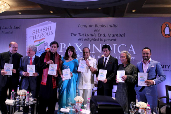 Shahrukh Khan at launch of book by Shashi Tharoor