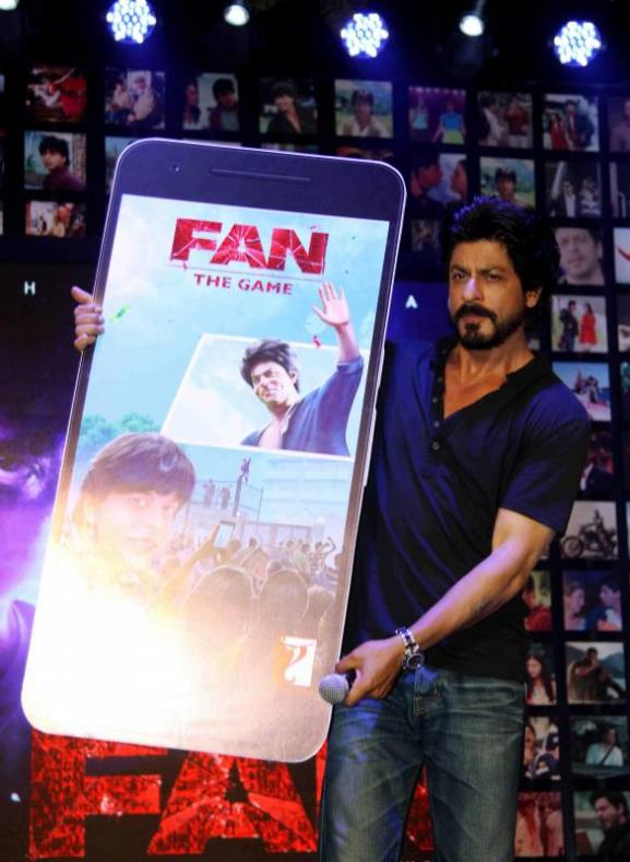 Shahrukh Khan Trailer Launch of film Fan-08