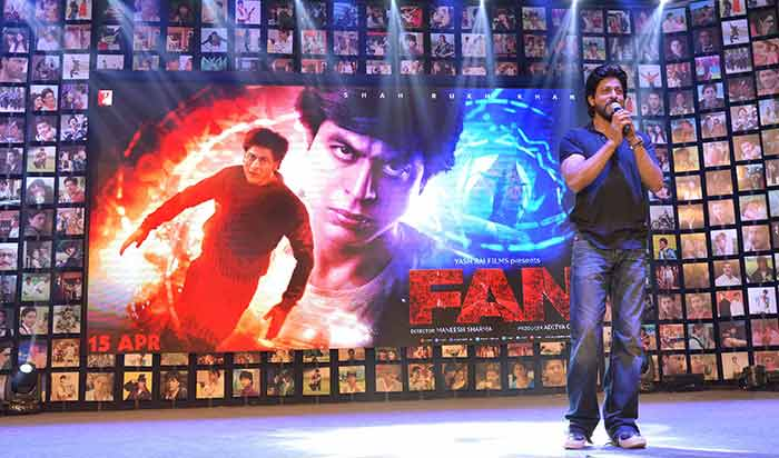 Shahrukh Khan Trailer Launch of film Fan-68