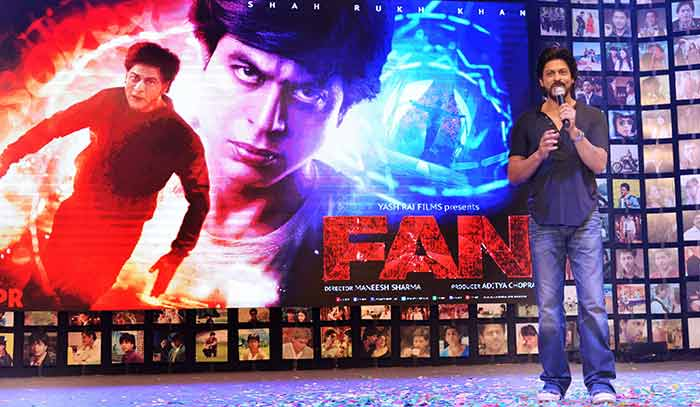 Shahrukh Khan Trailer Launch of film Fan-76