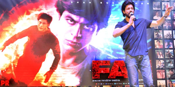 Shahrukh Khan Trailer Launch of film Fan-96