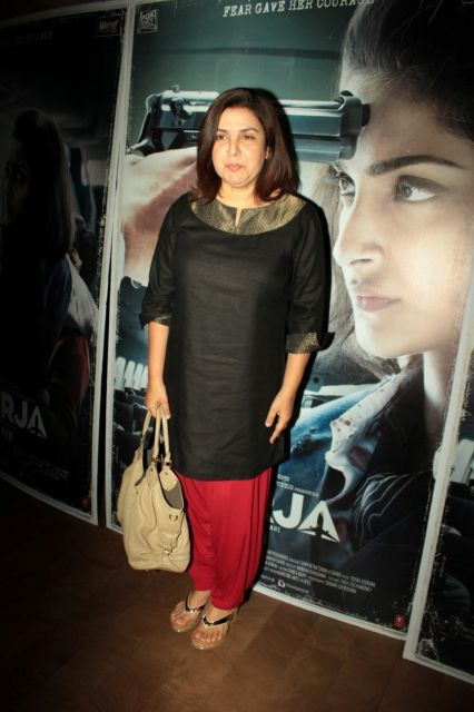 Shekhar Ravjiani, Farah Khan & Other Celebs Screening of film Neerja