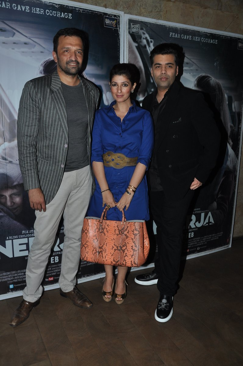 Shilpa, Shamita Shetty, Aamir Khan & Hrithik Roshan Special Screening of film Neerja